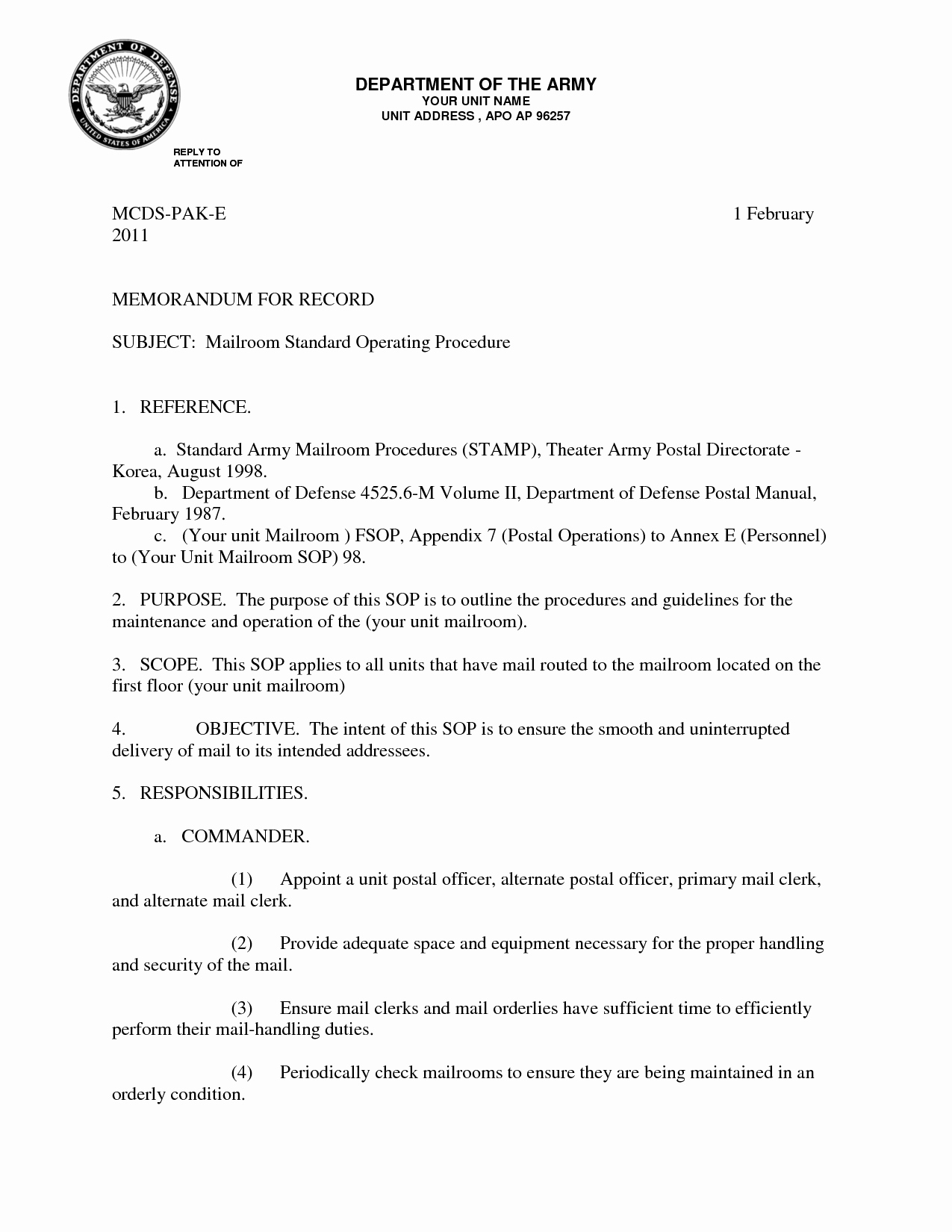 Memo Template for Word Elegant 10 Best Of Army Memo for Record Doc Army