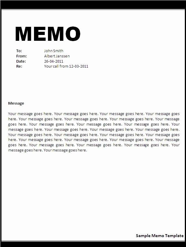 Memo Template for Word Elegant Memo Template