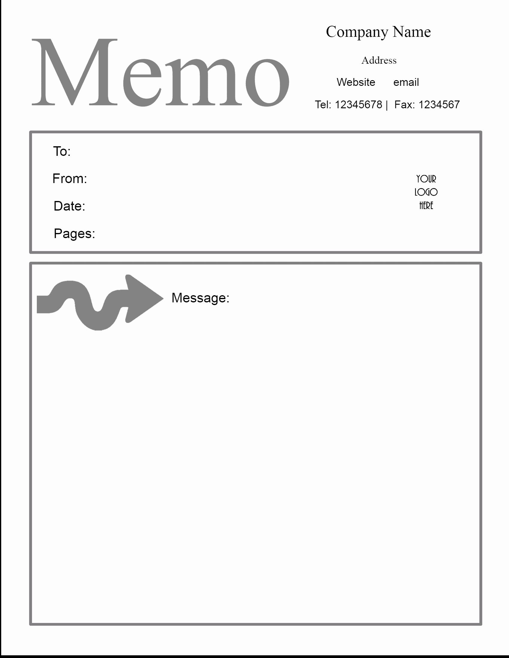 Memo Template for Word Inspirational Free Microsoft Word Memo Template