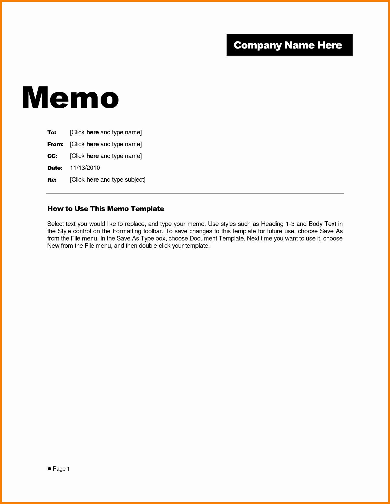Memo Template for Word Lovely Credit Memo Sample Portablegasgrillweber