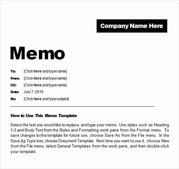 Memo Template for Word New 8 Confidential Memo Samples