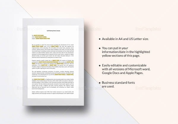 Memo Template Google Docs Lovely 31 Sample Memos