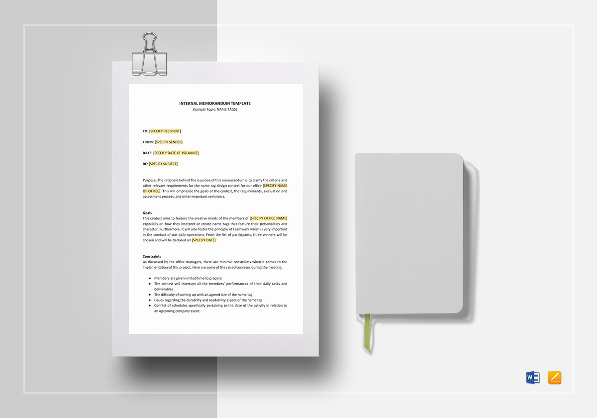 Memo Template Google Docs Lovely Internal Memo Template In Word Google Docs Apple Pages
