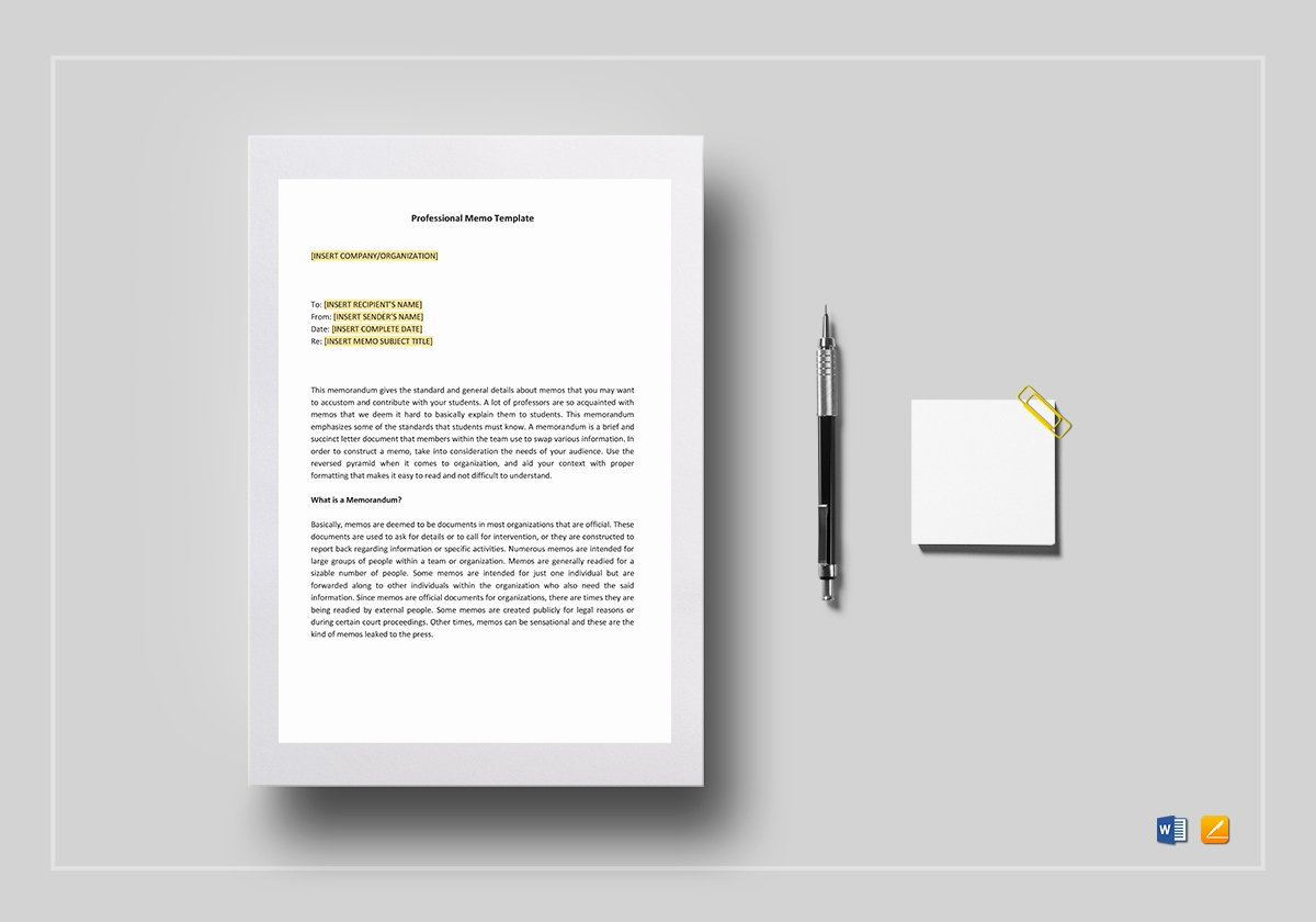Memo Template Google Docs Luxury Professional Memo Template In Word Google Docs Apple Pages