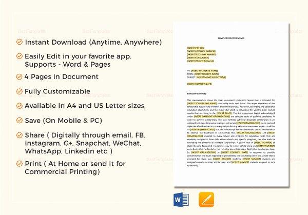 Memo Template Google Docs Unique 7 Executive Memo Examples Samples