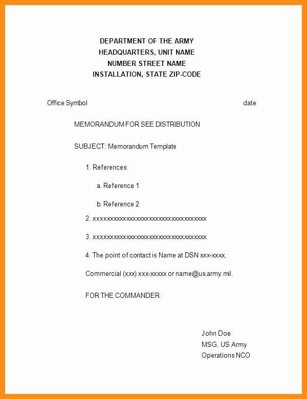 Memorandum for Record Template Awesome 7 8 Memorandum for Record Army Example Wlc
