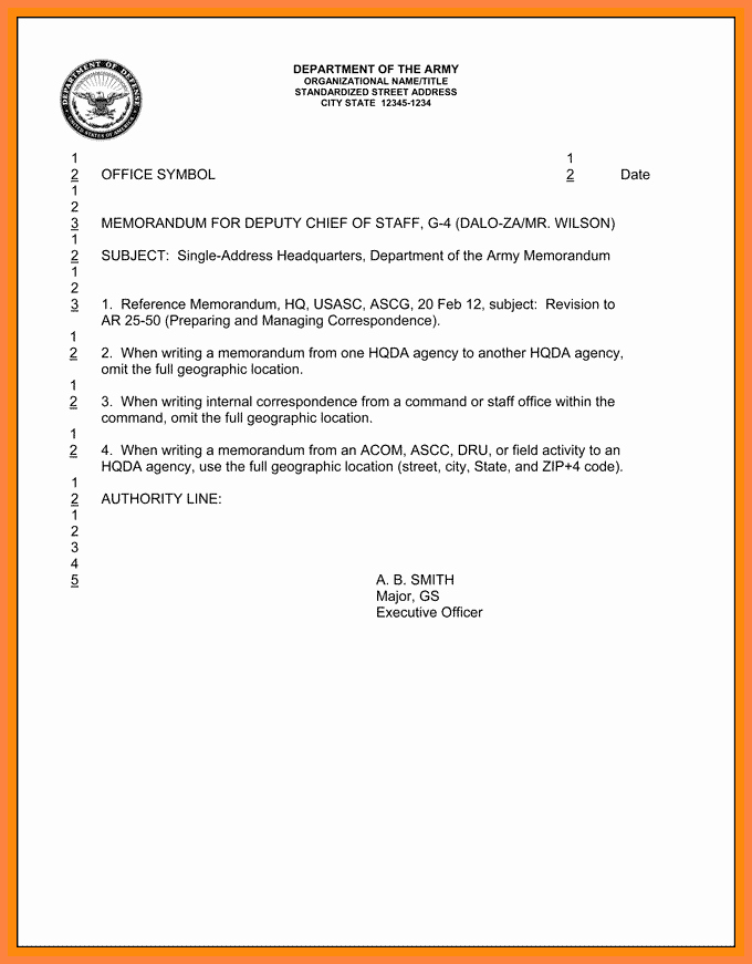 Memorandum for Record Template Lovely 13 Example Army Memorandum