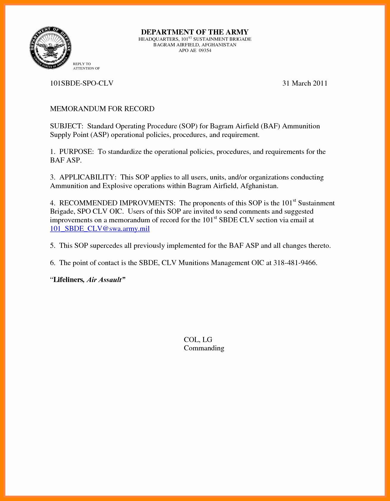 Memorandum for Record Template Luxury 1 2 Memorandum for Record Army Example Wlc