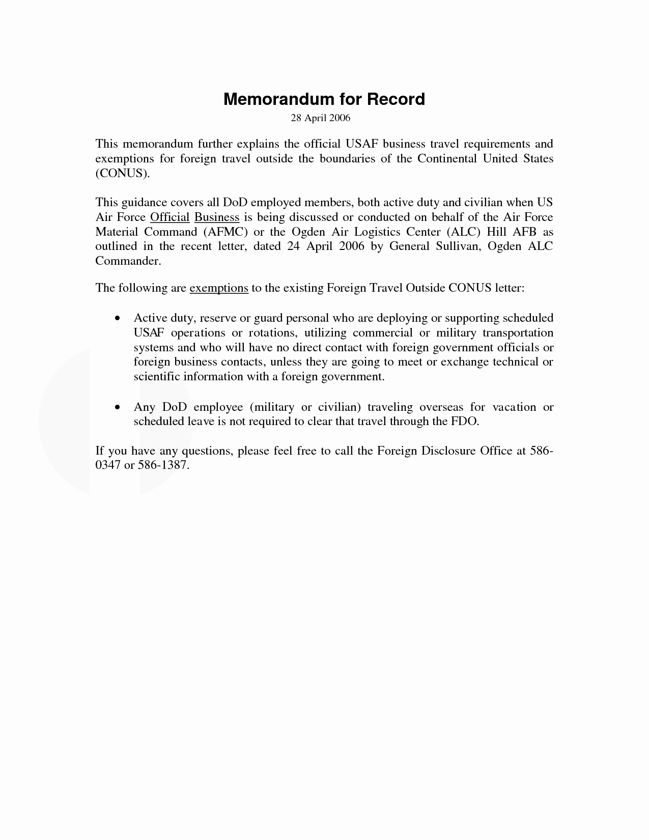 Memorandum for Record Template New 10 Best Of Memorandum for Record Example Army