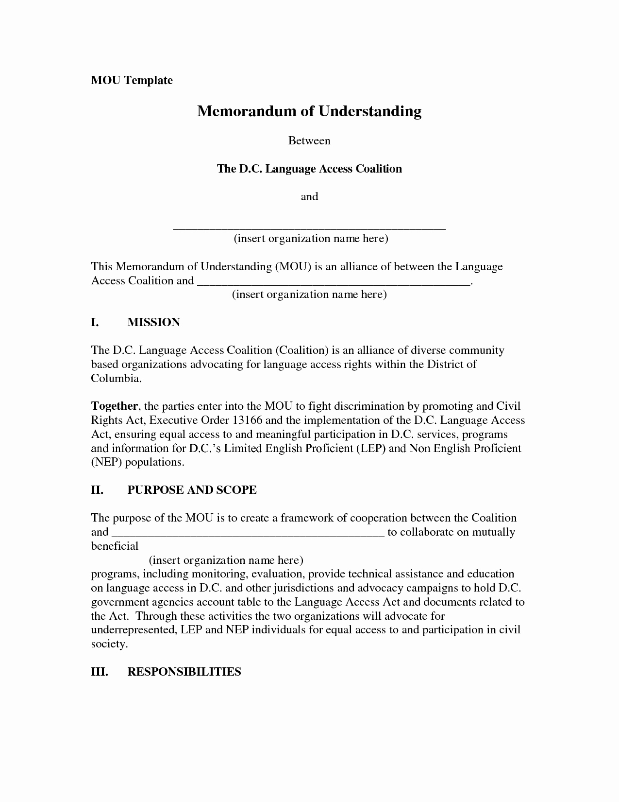 Memorandum Of Agreement Template Inspirational 10 Best Of Example Memorandum Understanding