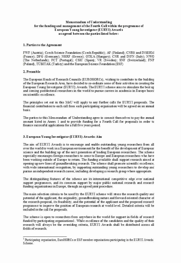 Memorandum Of Understanding Template Beautiful 50 Free Memorandum Of Understanding Templates [word]