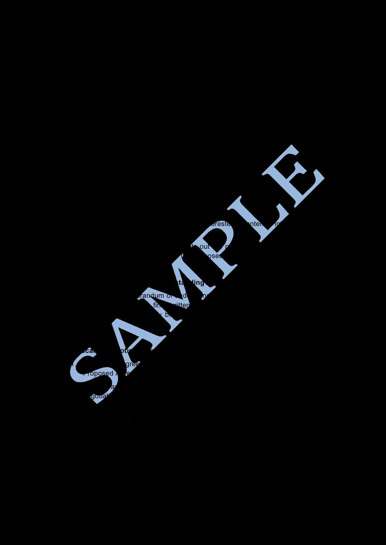 Memorandum Of Understanding Template Beautiful Memorandum Of Understanding Sample Lawpath