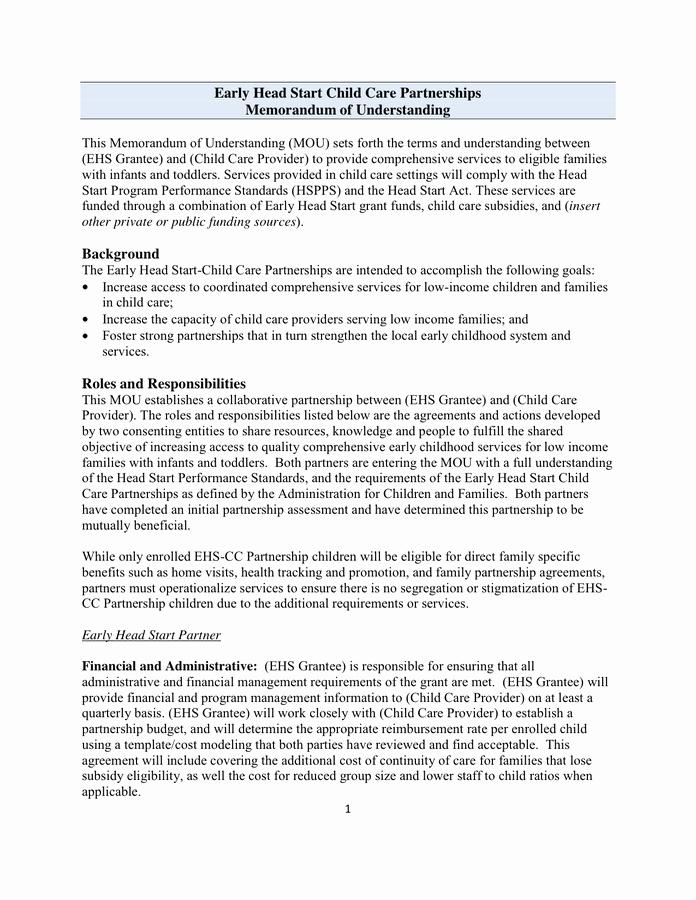 Memorandum Of Understanding Template Elegant Sample Memorandum Of Understanding Template In Word and