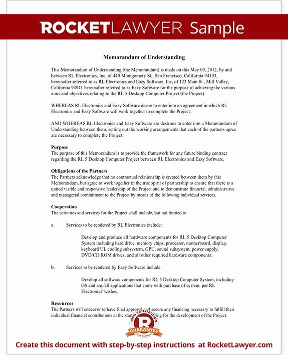 Memorandum Of Understanding Template Inspirational 1076 Best Images About Real State On Pinterest