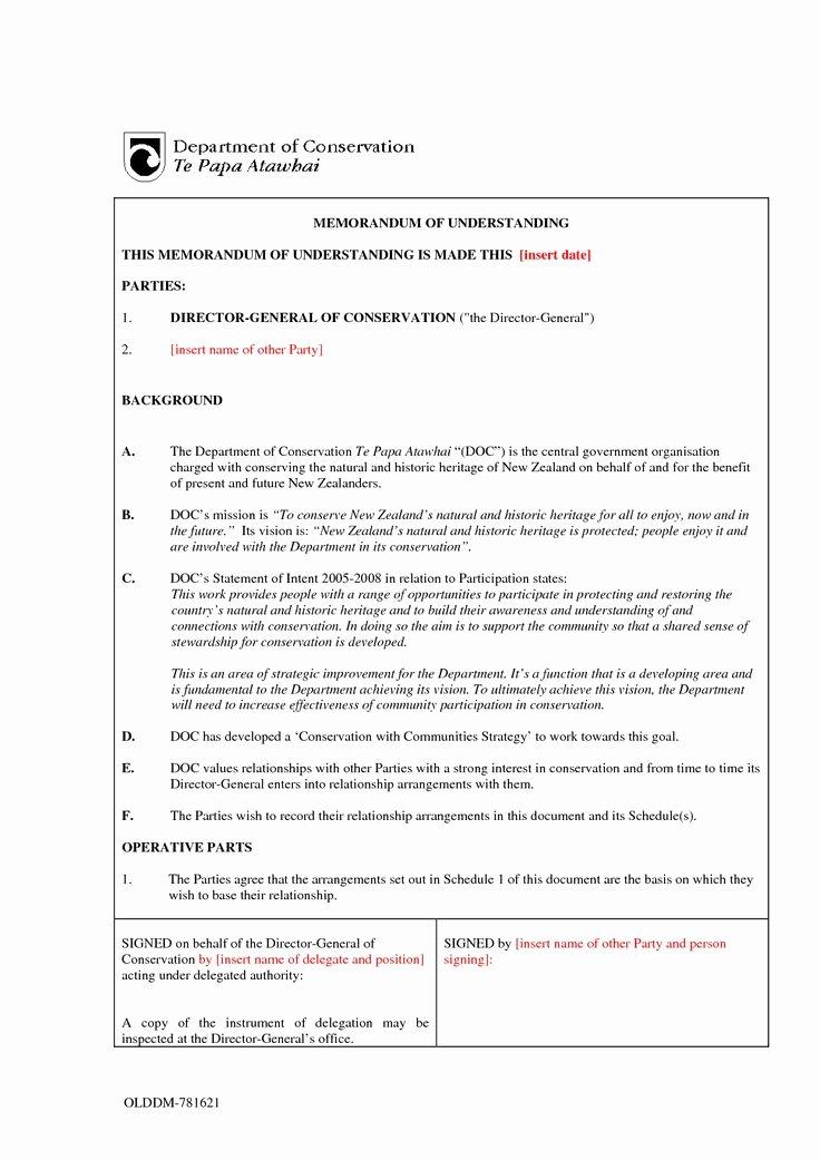 Memorandum Of Understanding Template Luxury Mou Sample Invitation Templates Memorandum Of