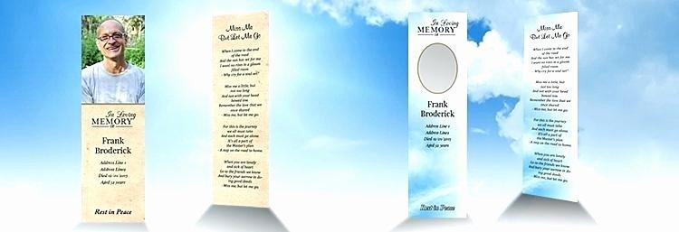 Memorial Bookmarks Template Free Elegant Download Memorial Bookmarks Template Free – Free Template
