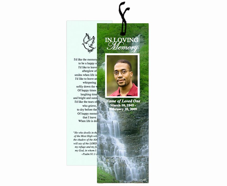 Memorial Bookmarks Template Free New the Funeral Program Site Releases New Templates for