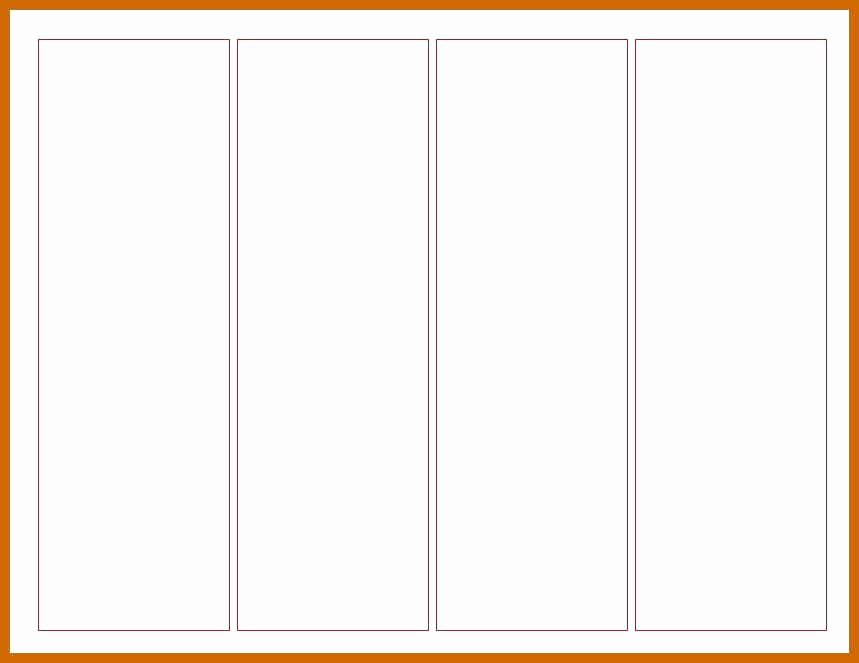 Memorial Bookmarks Template Free Unique Blank Bookmark Template Free Templates to Print Printable