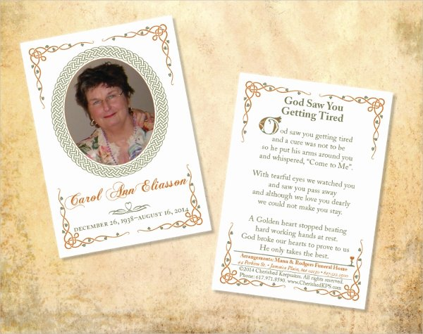 Memorial Card Template Free Awesome 15 Funeral Card Templates Free Psd Ai Eps format