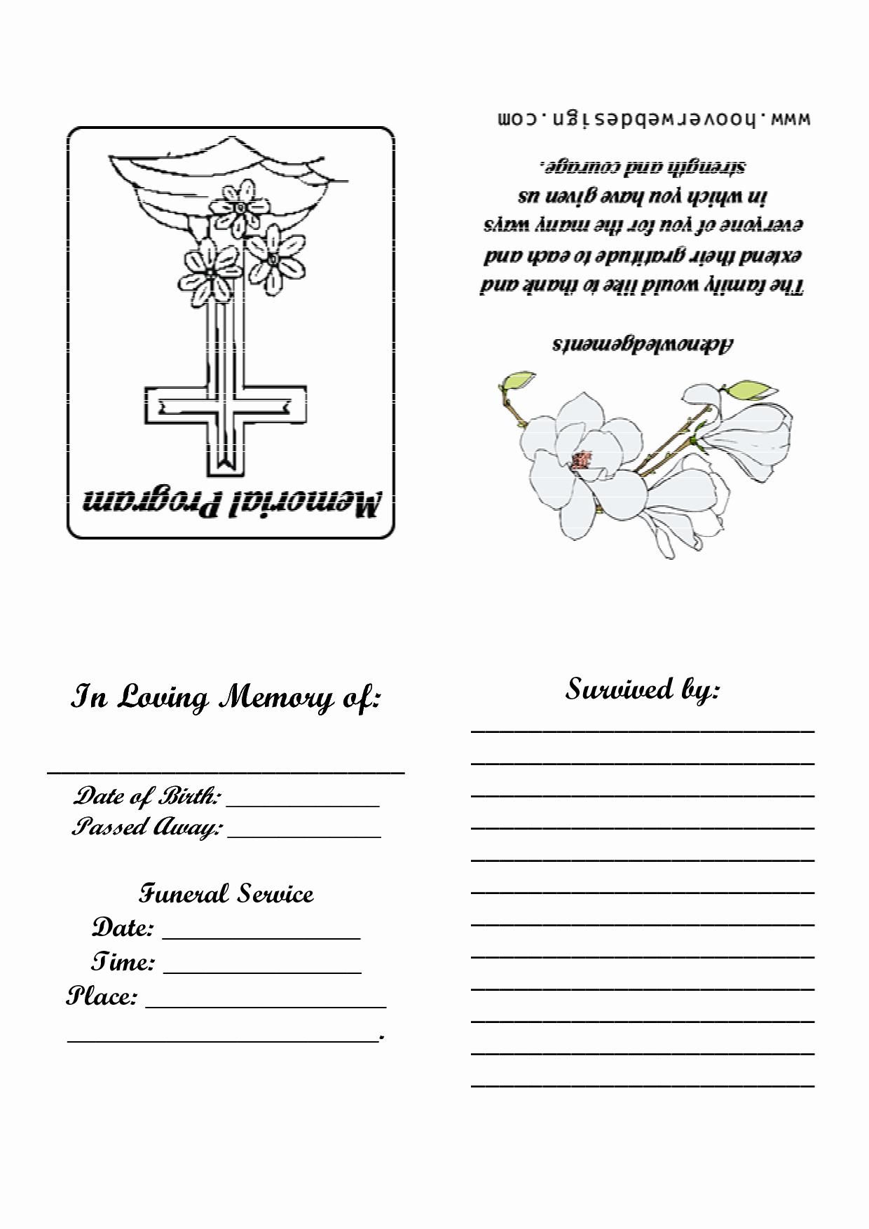 Memorial Card Template Free Best Of 7 Best Of Printable Memorial Card Templates Free