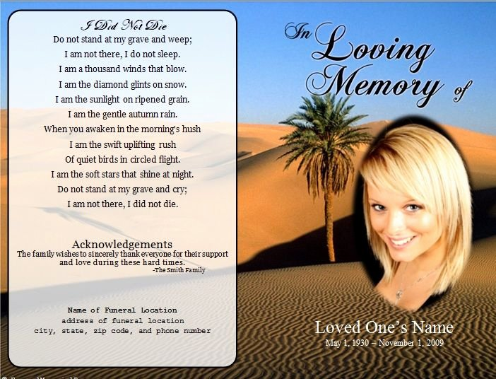 Memorial Card Template Free Best Of 73 Best Printable Funeral Program Templates Images On