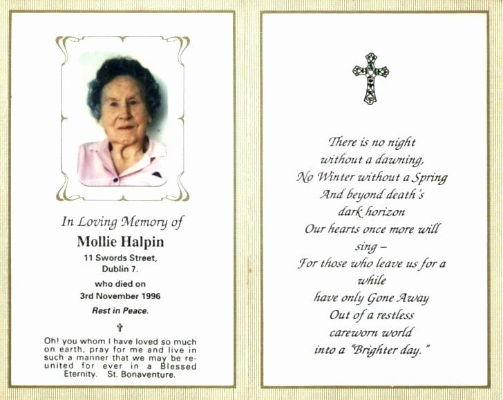 Memorial Card Template Free Best Of In Loving Memory Template – Inspirasia