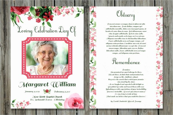 Memorial Card Template Free Inspirational 15 Funeral Card Templates Free Psd Ai Eps format