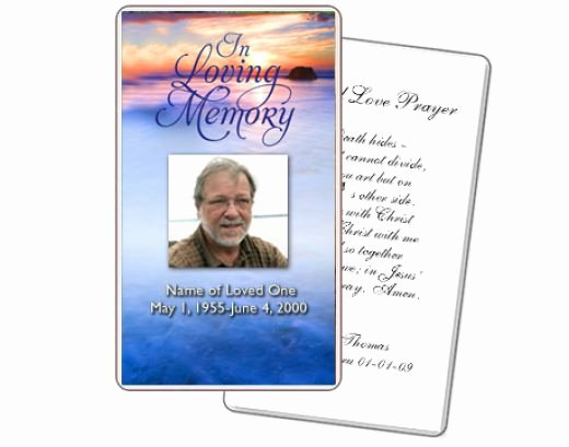 Memorial Card Template Free Inspirational 8 Best Of Free Printable Memorial Prayer Cards