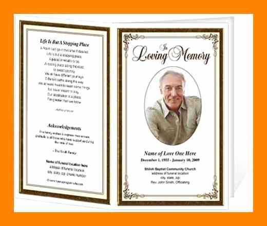 Memorial Card Template Free Lovely 8 Free Obituary Program Template