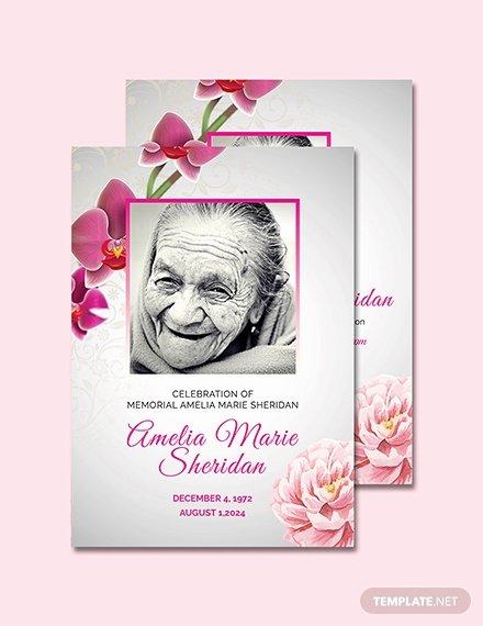 Memorial Card Template Free Luxury Free Funeral Memorial Card Template Download 232 Cards