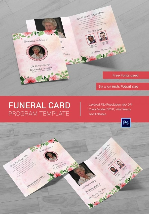 Memorial Card Template Free New 21 Obituary Card Templates – Free Printable Word Excel