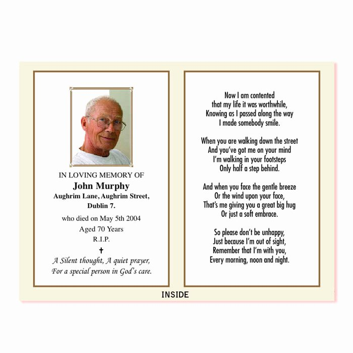 Memorial Cards Template Free Best Of In Memoriam Card – Wp2print Demo