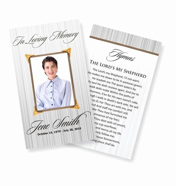 Memorial Cards Template Free Inspirational Funeral Prayer Cards Catholic Funeral Prayer Cards