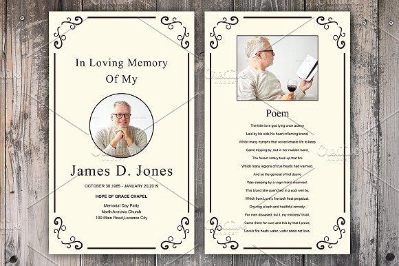 Memorial Cards Template Free Luxury Funeral Prayer Card Template Card Templates Creative