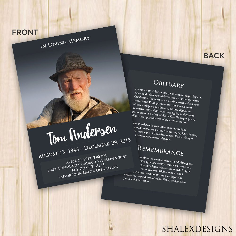 Memorial Cards Template Free New Funeral Program Template Funeral Program for Memorial order