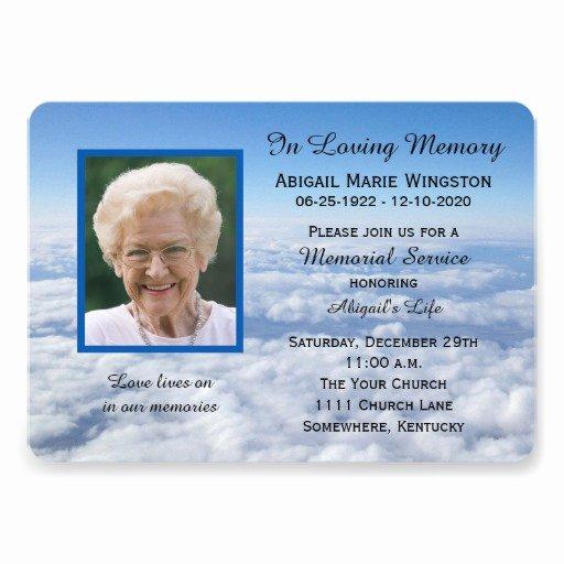 Memorial Service Announcement Template Beautiful 1 000 Memorial Service Invitations Memorial Service