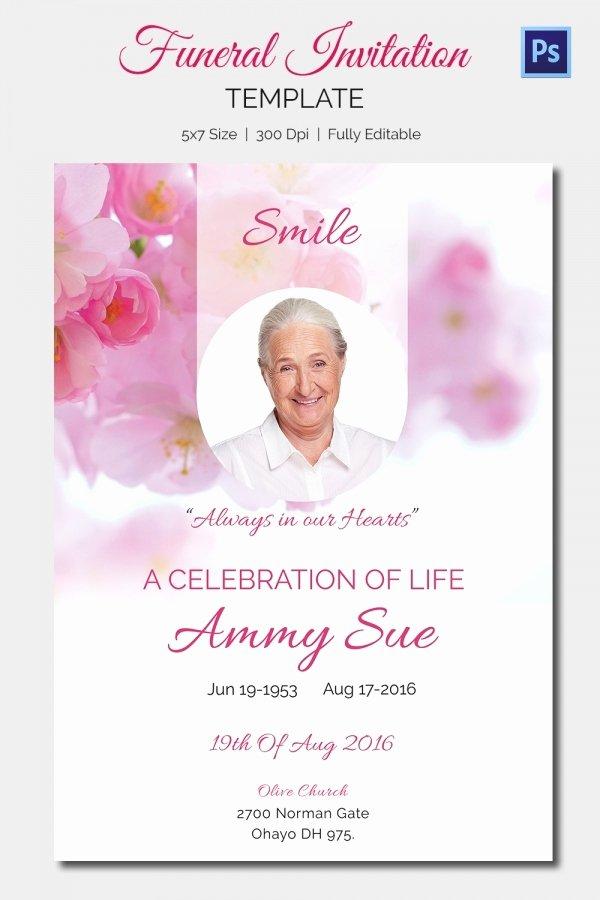 Memorial Service Announcement Template Beautiful 15 Funeral Invitation Templates – Free Sample Example