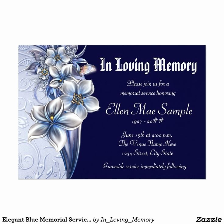 Memorial Service Announcement Template Elegant 111 Best Celebration Of Life Invitations Images On