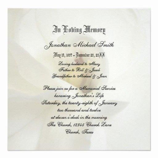 Memorial Service Announcement Template Fresh Best S Of Sample Memorial Service Invitation Wording