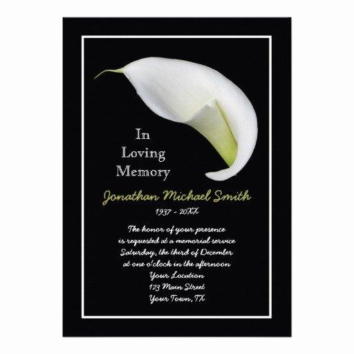 Memorial Service Announcement Template New Memorial Invitation Templates Invitation Template