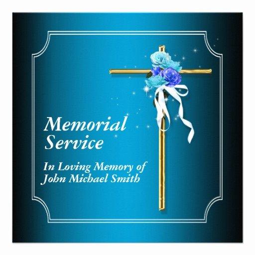 Memorial Service Announcement Template Unique 6 Best Of Memorial Service Background Memorial