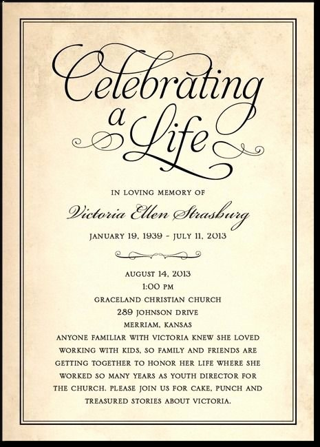 Memorial Service Invitation Template Beautiful 27 Best Memorial Celebration Of Life Ideas Images On