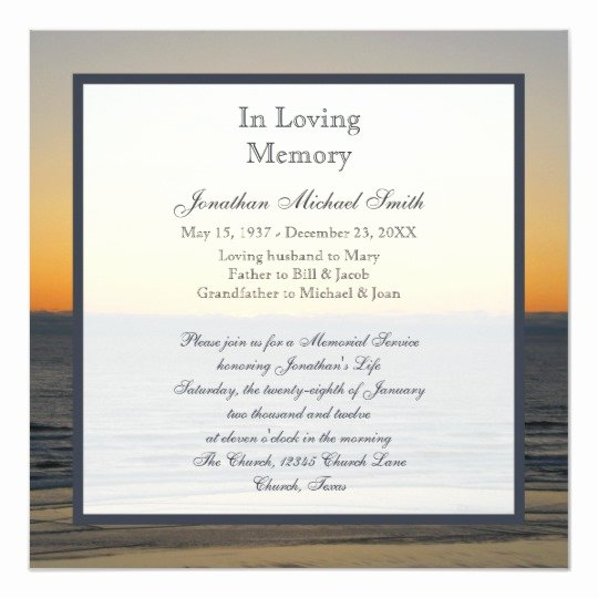 Memorial Service Invitation Template Best Of How to Write A Memorial Notice