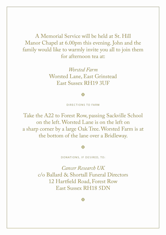 Memorial Service Invitation Template Elegant Funeral Service Invitation Templates