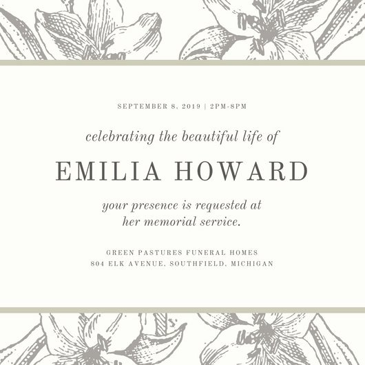 Memorial Service Invitation Template Luxury Hospice Memorial Service