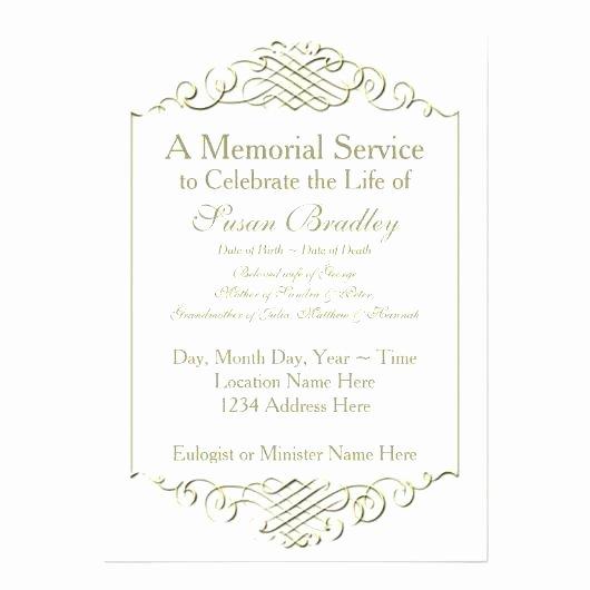 Memorial Service Invitation Template Luxury Hospice Memorial Service Invitation Wording Invitations