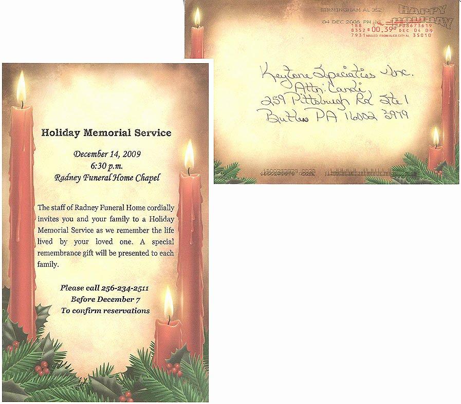 Memorial Service Invitation Template Unique 9 Best Of Memorial Service Announcement Template
