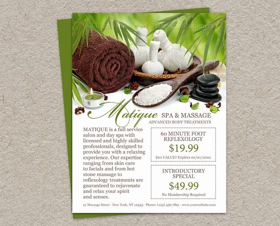 Menu Of Services Template Fresh Personalized Spa Salon Flyer with Prefilled Coupons and