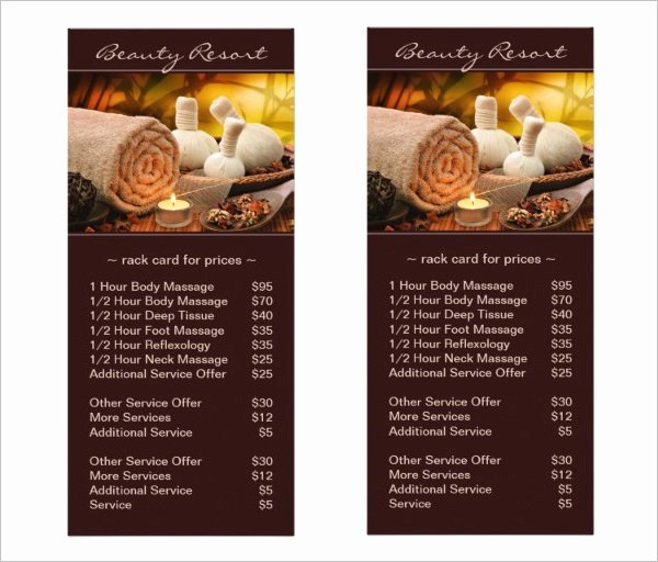 Menu Of Services Template New 22 Spa Menu Templates Psd Eps