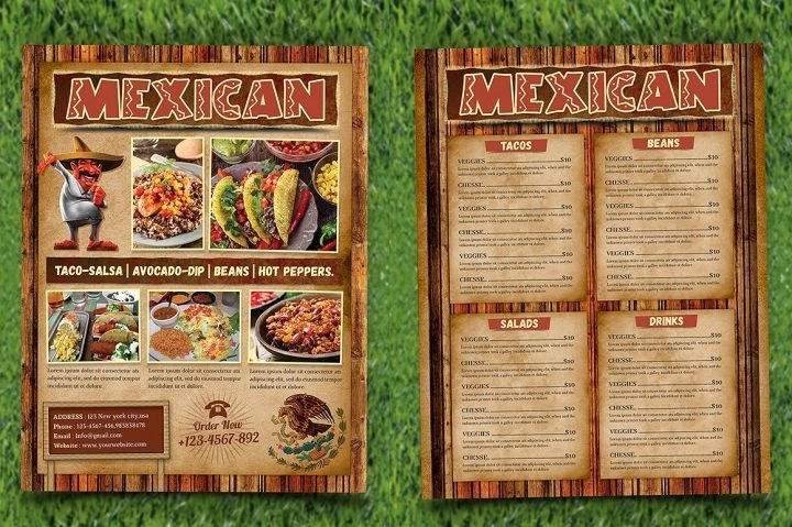 Mexican Restaurant Menu Template Fresh 9 Mexican Restaurant Menu and Flyer Templates
